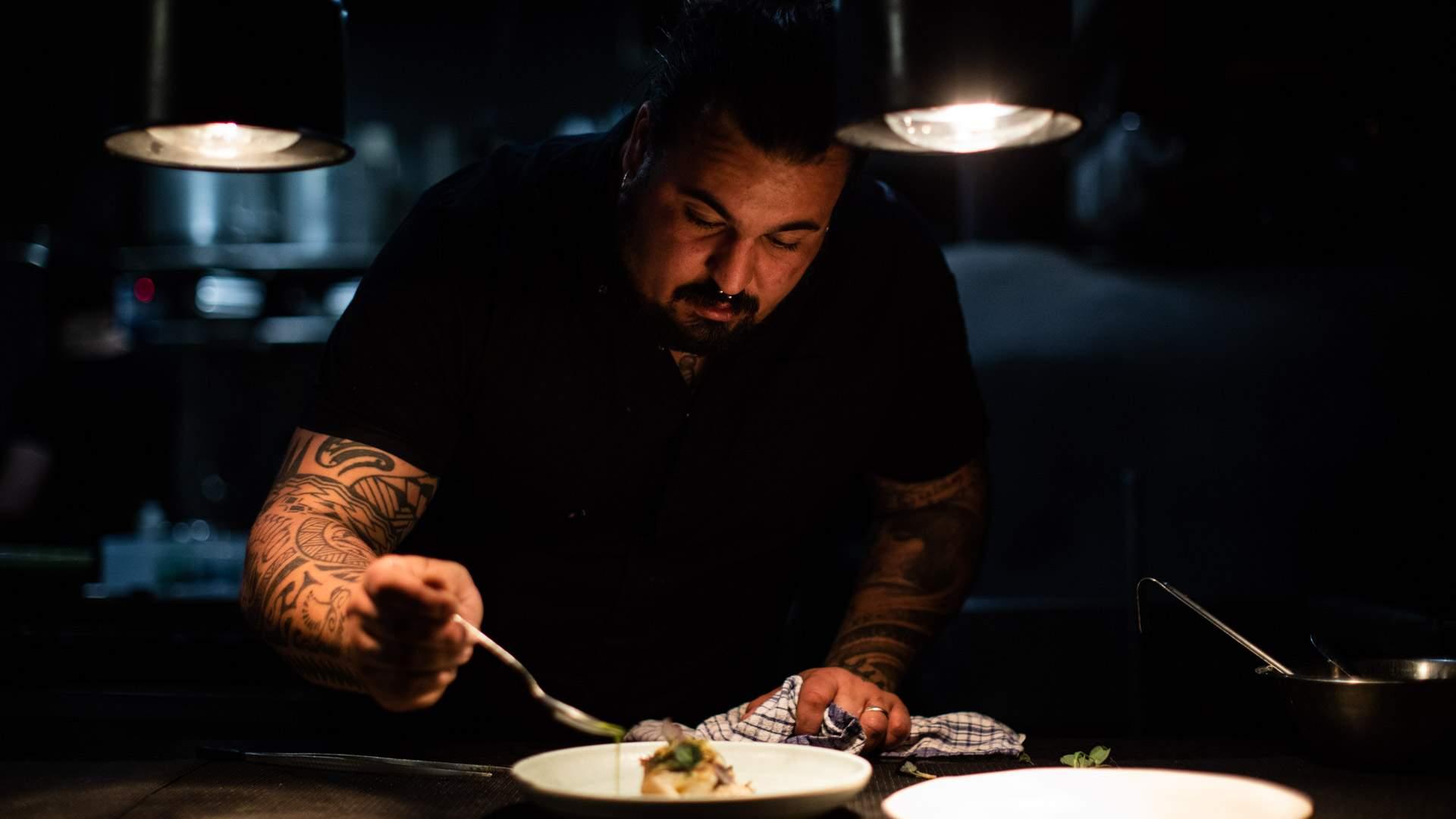 Head chef and owner Nicola Coccia at Osteria Il Coccia