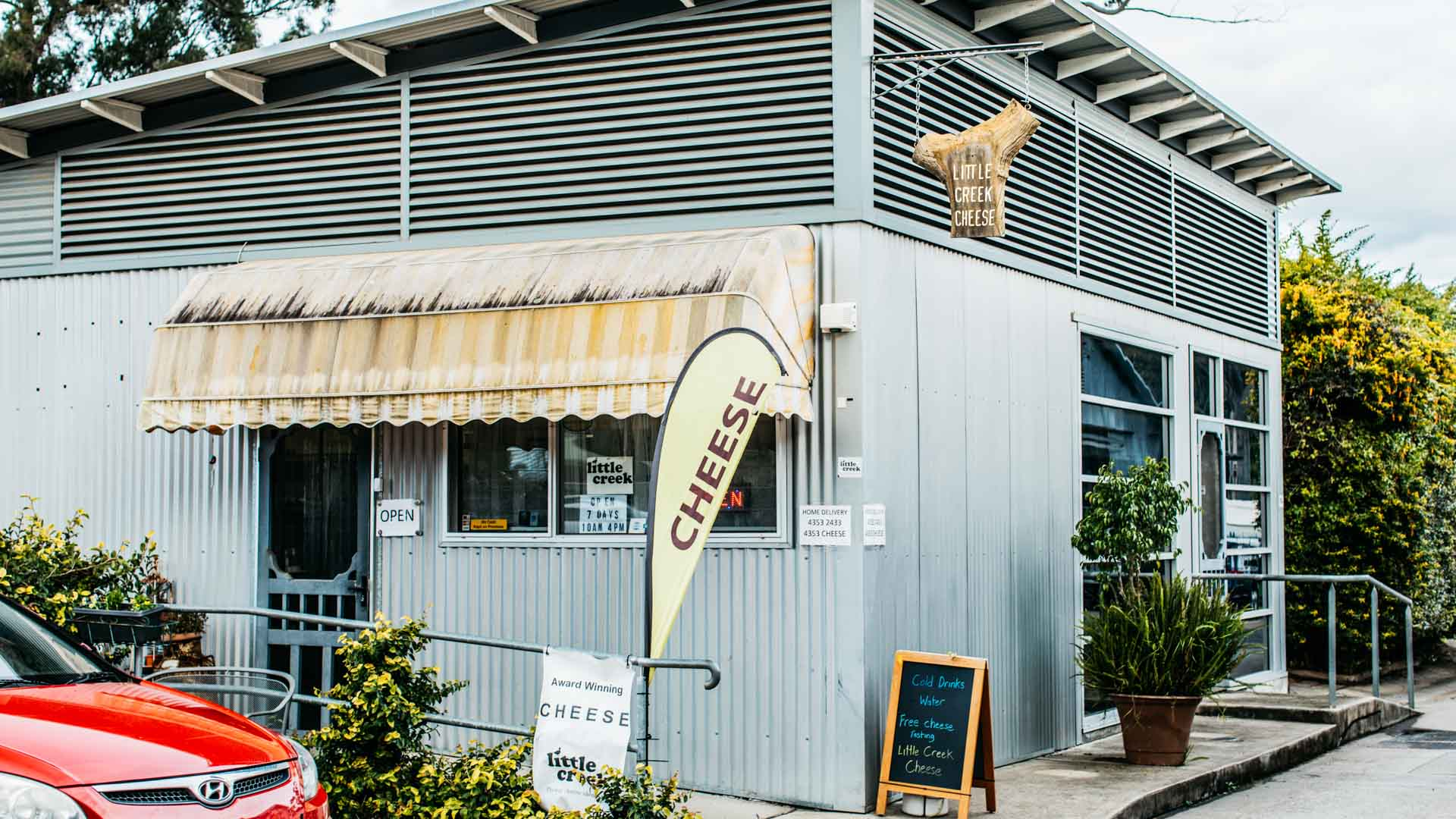 Exterior of Little Creek Cheese in Central Coast