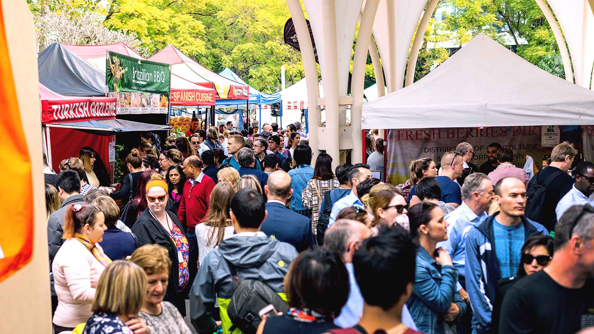 Brisbane City Cathedral Square Markets 2020