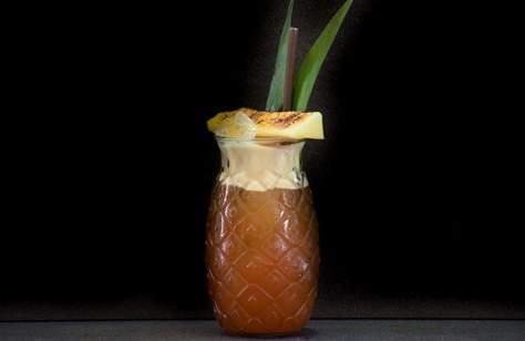 Black Pineapple Foraged Cocktails