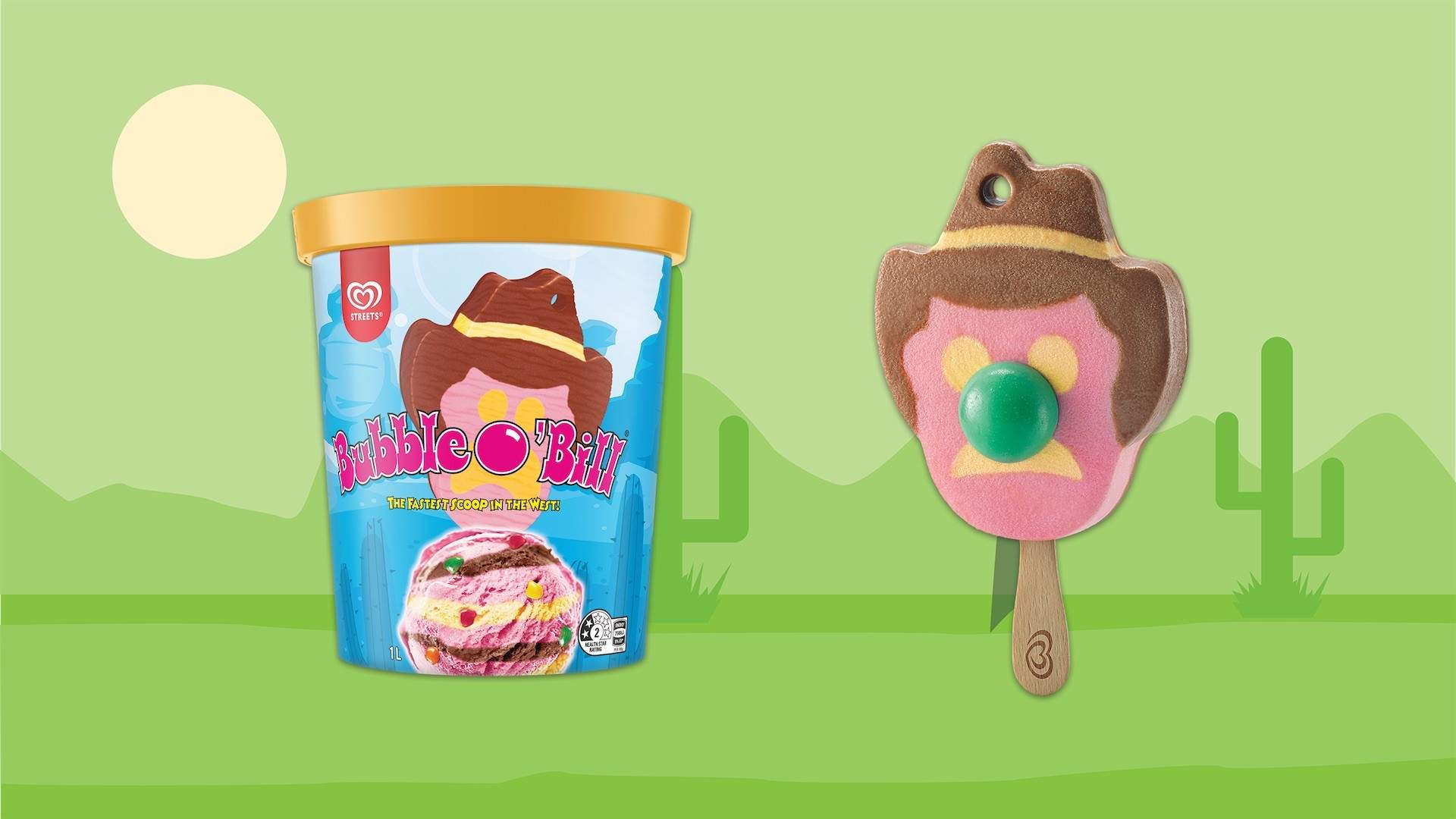 Tubs of Rainbow Paddle Pop and Bubble O'Bill Ice Cream Have Just Landed in the Freezer Aisle