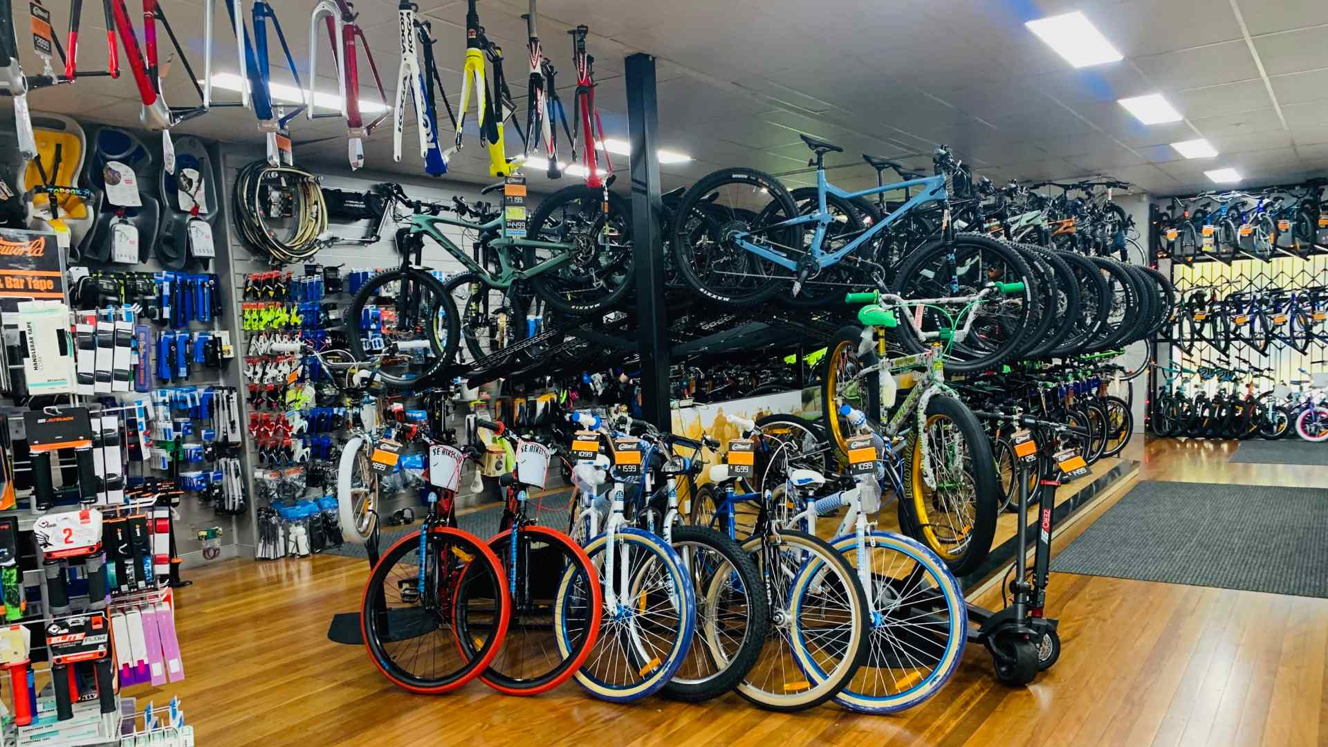 Bicycles in a bike shop