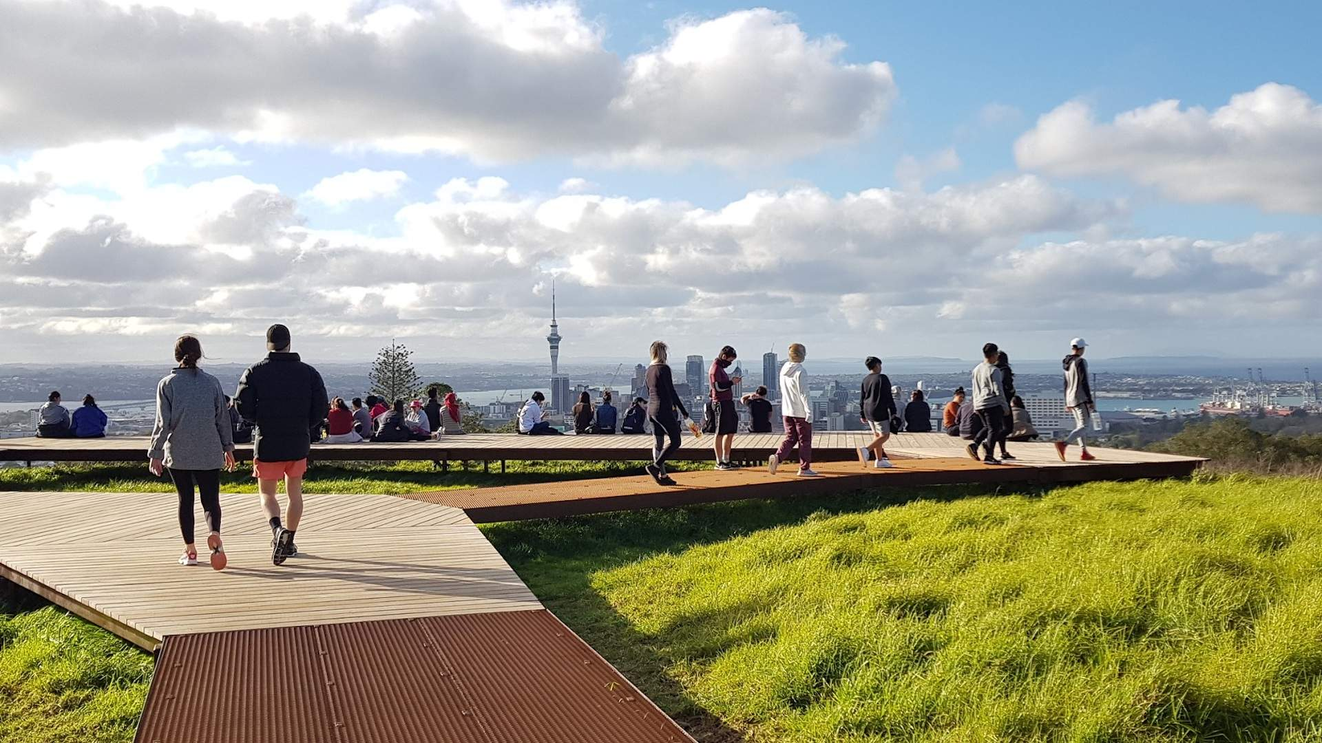 A New Visitor Boardwalk and Viewing Platform Has Opened on Maungawhau/Mount Eden