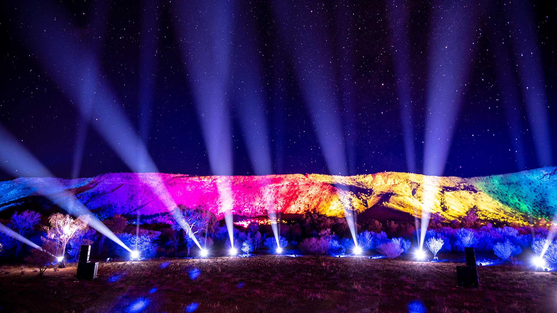 You Can Now Take a Virtual Tour of Alice Springs' Dazzling Parrtjima Festival