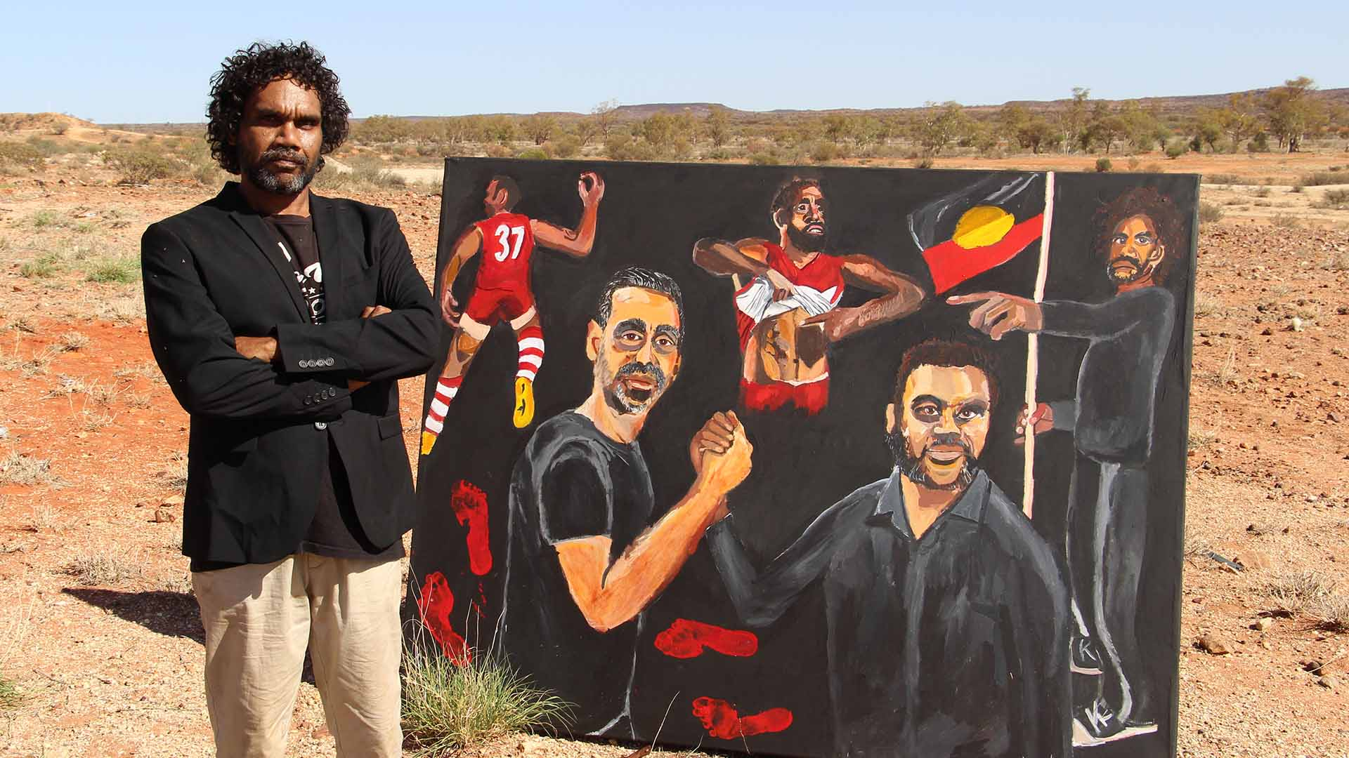 Vincent Namatjira's Portrait of Adam Goodes Has Just Taken Out the 2020 Archibald Prize