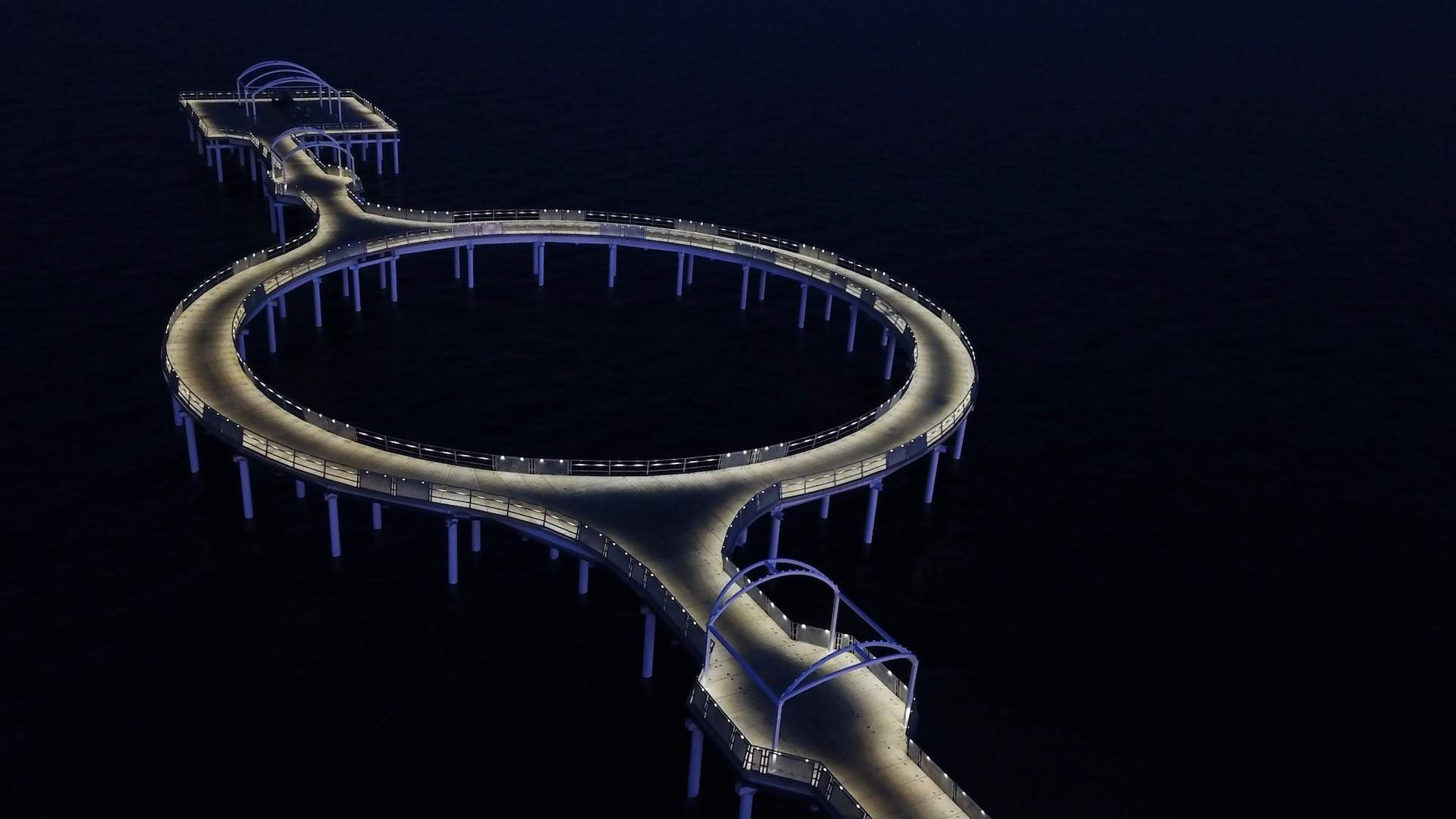 The South Australian City of Whyalla Is Now Home to a Spectacular New LED-Lit Circular Jetty