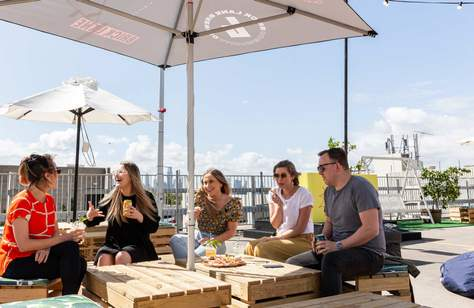 An Openair Beer Garden Has Landed on the Rooftop of The Prince Hotel's Car Park