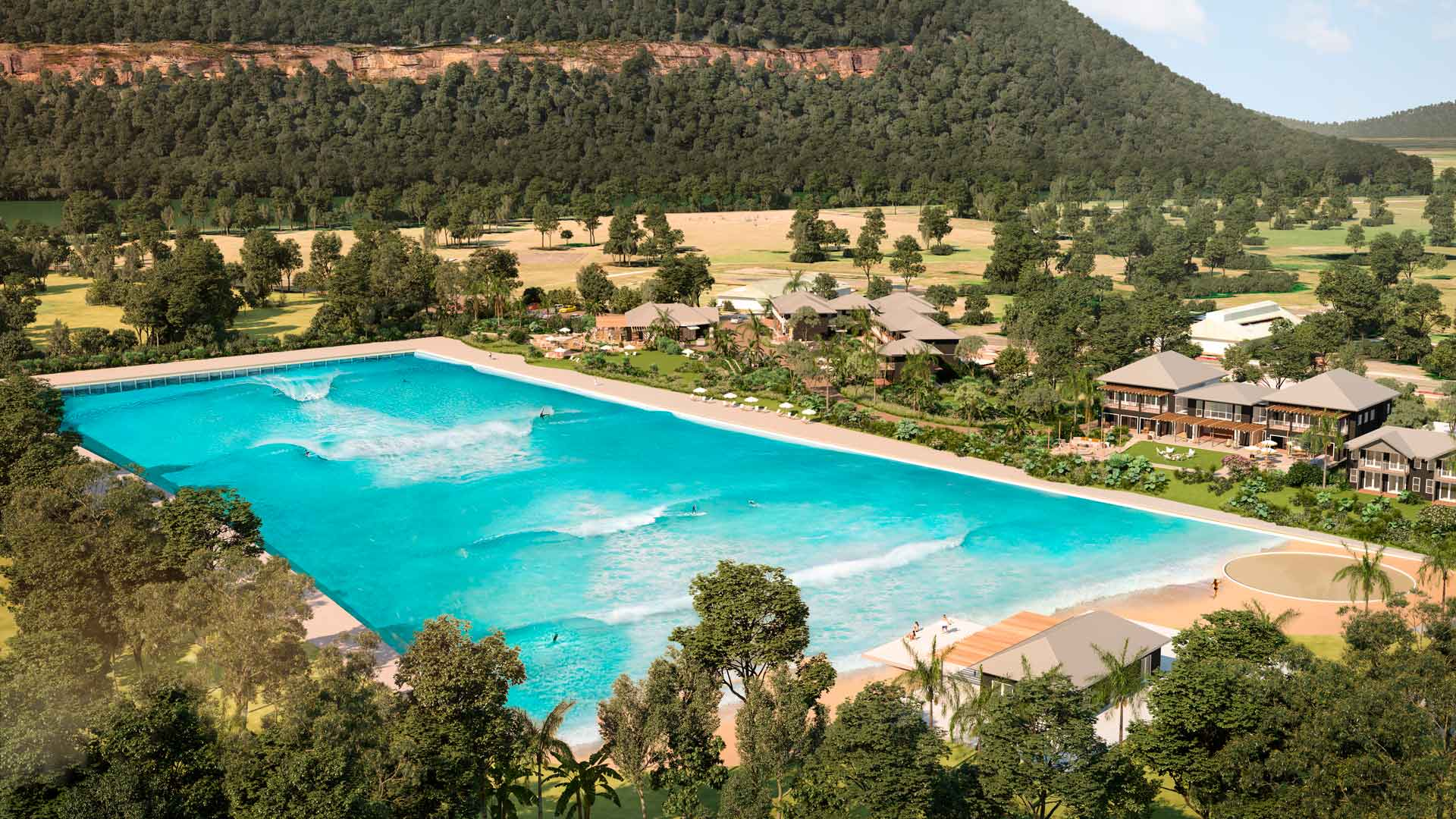 Wisemans Surf Lodge Is the Giant Wave Pool and Luxury Resort Set to Open in Sydney's North