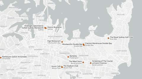 This Interactive Map Shows COVID-19 Case Alerts for NSW Venues