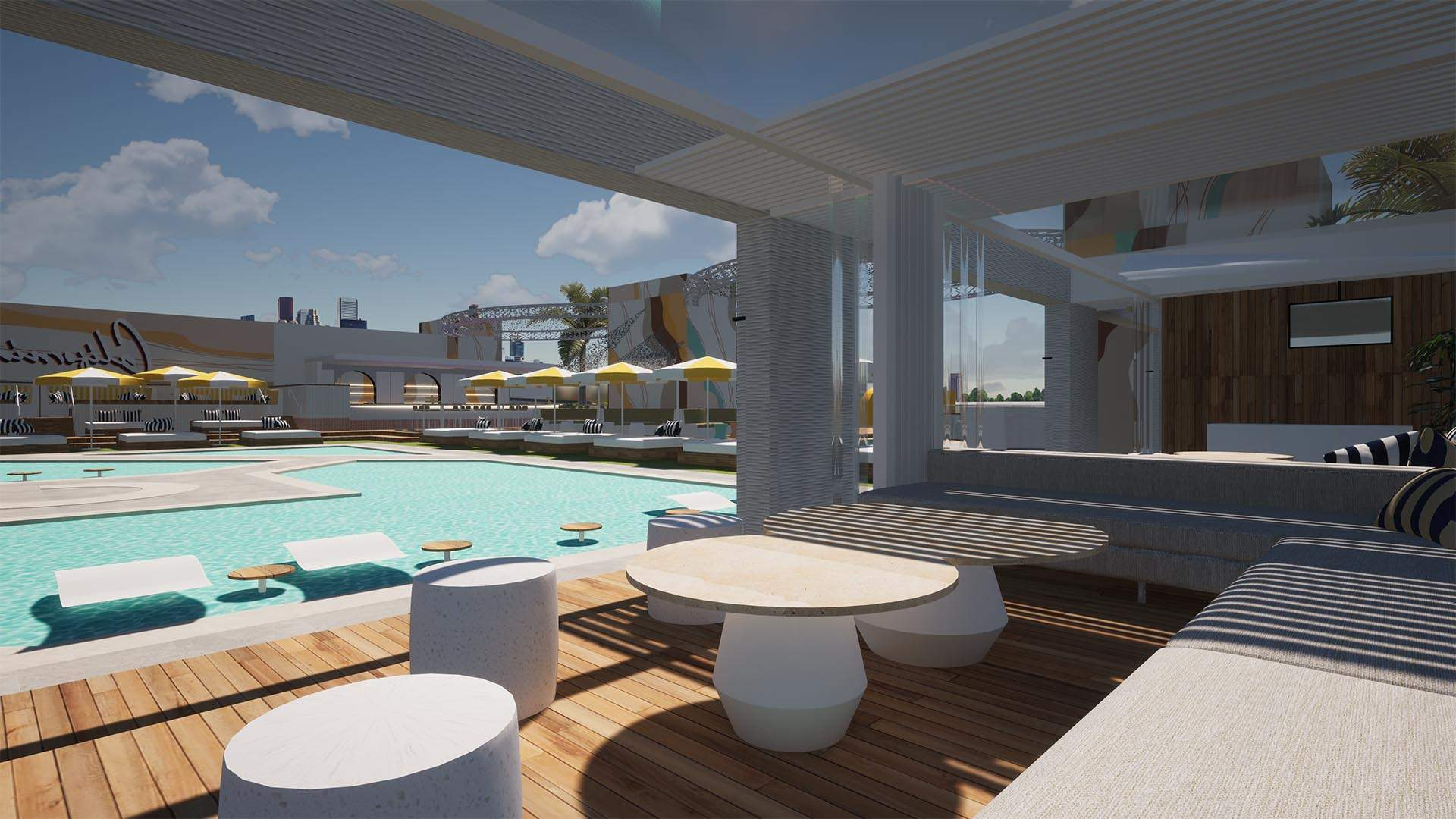 Cali Beach Club's Cabana-Filled Oceanside Precinct Will Open on a Gold Coast Rooftop in August