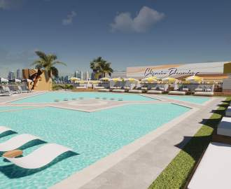 Cali Beach Club Is the Gold Coast's Soon-to-Open Cabana-Filled Oceanside Precinct on a Rooftop