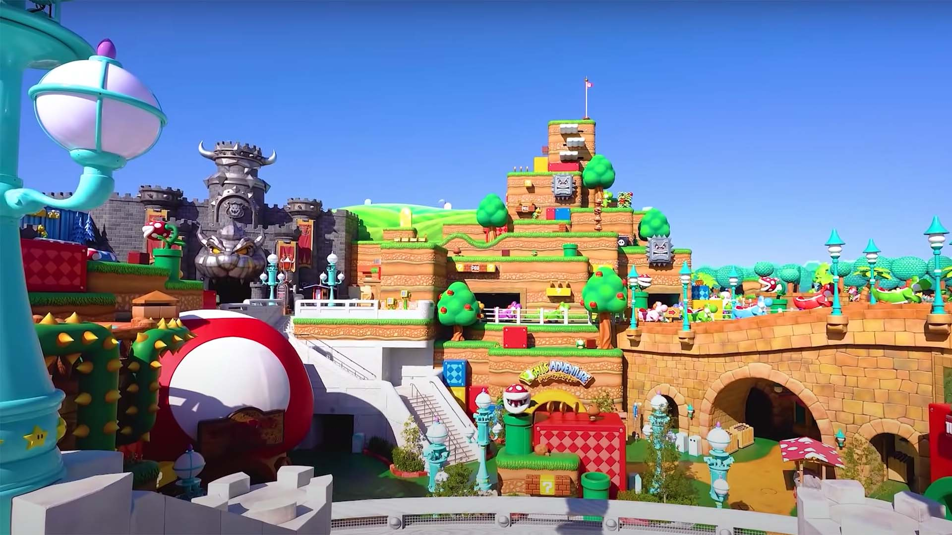Take a Sneak Peek at Japan's New Super Nintendo Theme Park and Its 'Mario Kart' Ride