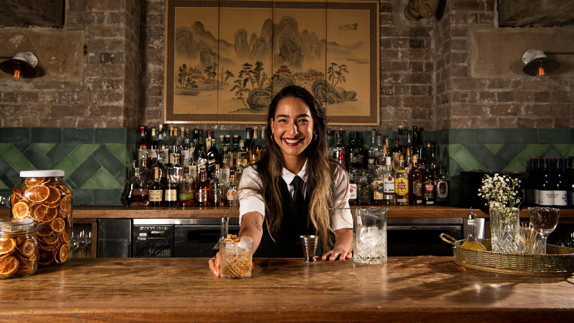 How to Make a Yum Cha Old-Fashioned with Natasha Capol from Mr Wong