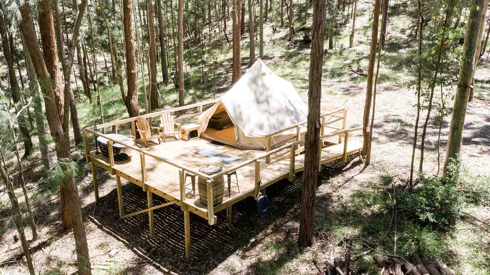 This Scenic New NSW Bushland Glamping Site Comes with Outdoor Bathtubs and a Games House