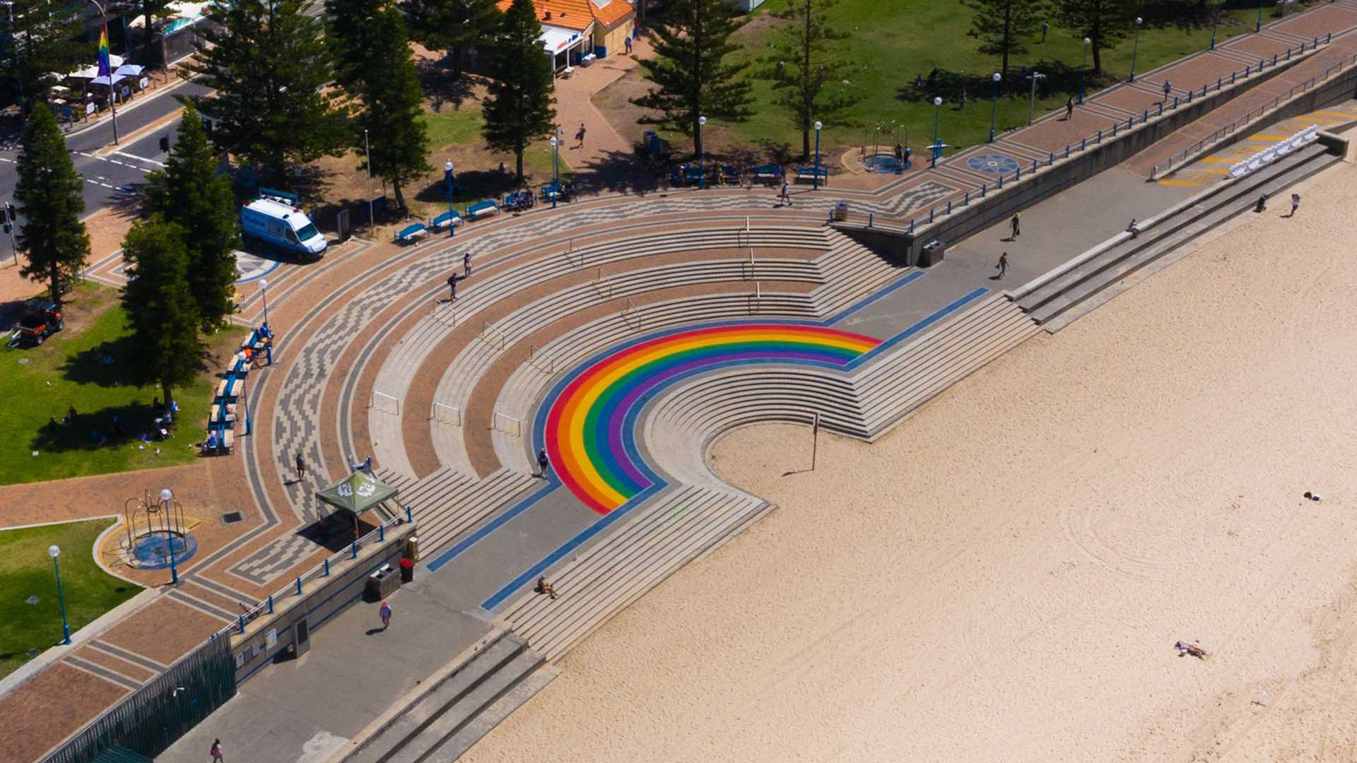 Coogee Has Welcomed a New Beachside Rainbow Walkway to Celebrate Mardi Gras