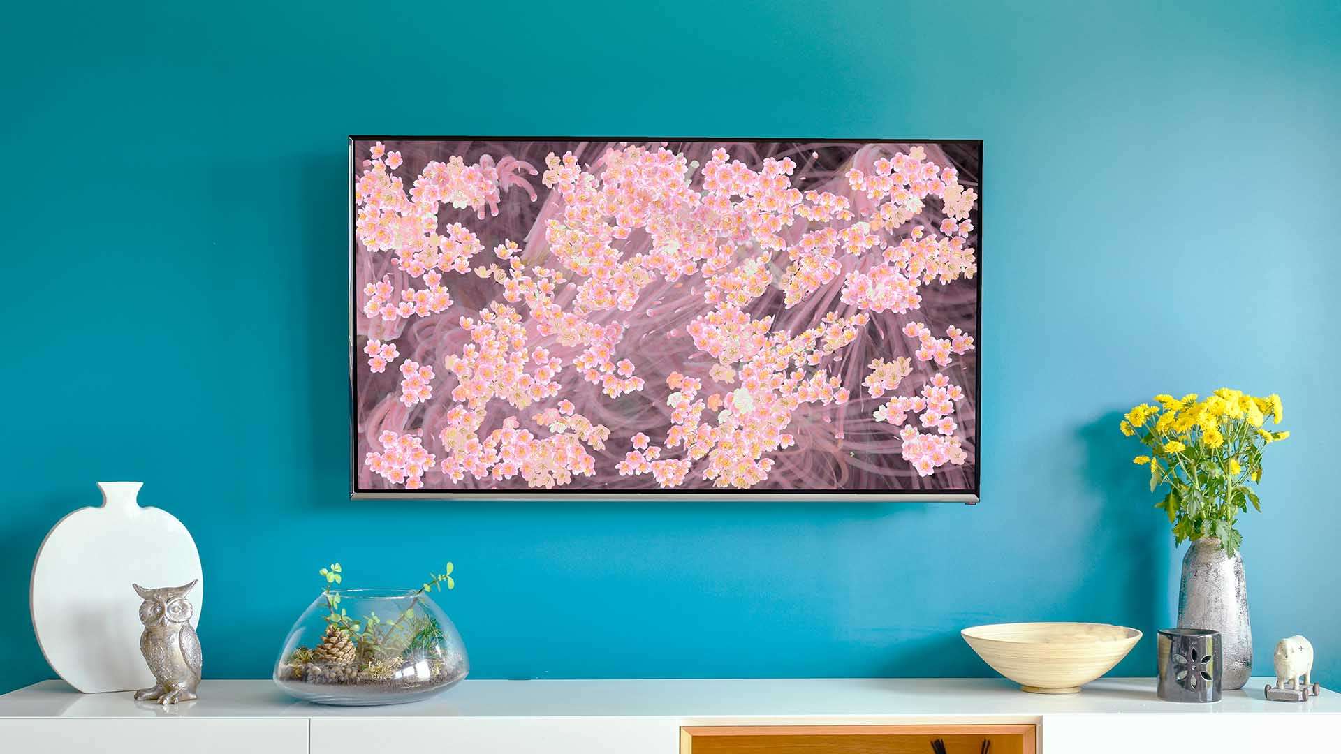 Teamlab's New 'Sakura Bombing Home' Artwork Will Fill Your TV Screen with Cherry Blossoms