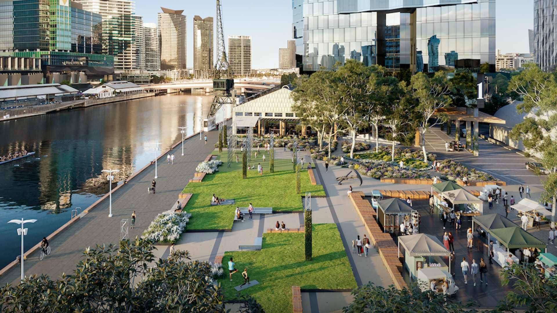 Melbourne Is Getting a New 3500-Square-Metre Riverside Park with an Urban Forest