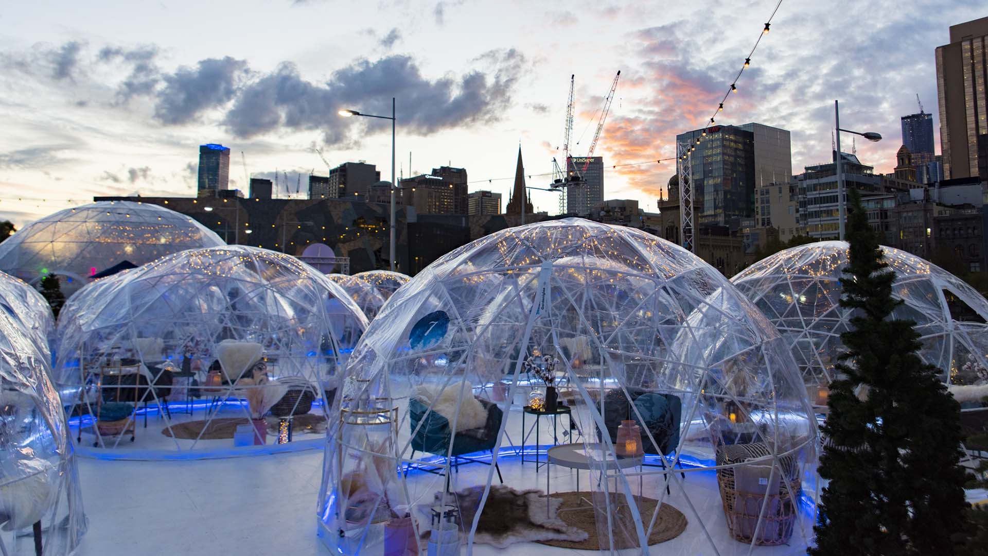 This Alpine-Inspired Winter Pop-Up Is Touring Its Igloos and Ice Skating Rink Around Australia