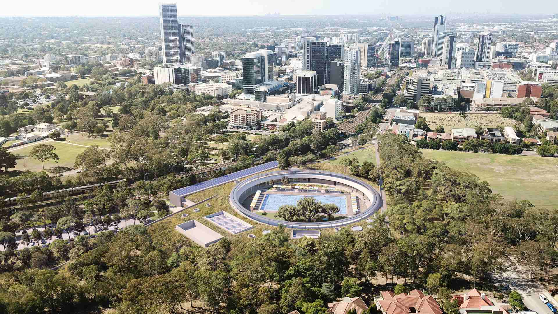 Parramatta Is Getting a New 40,000-Square-Metre Solar-Powered Aquatic and Leisure Centre
