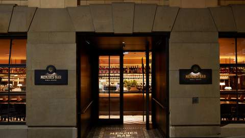 The Menzies Bar Is the First Venue Opening Inside the CBD's Historic Shell House Next Week